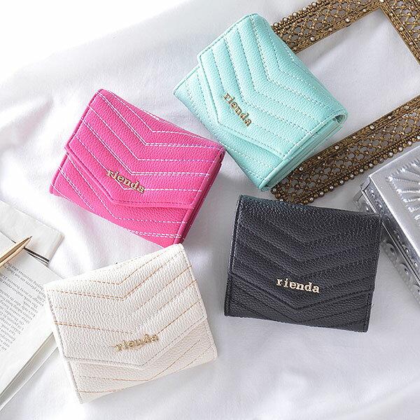 【ポイント10倍】リエンダ rienda MIX QUILTING TWO FOLD WALLET 二つ折り財布 レディース ミニ財布 財布 サイフ ミニウォレット ウォレット 二つ折り キルティング r03277203
