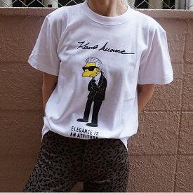 《ポイント10倍》Account アカウント 通販 Karl Tee レディース Tシャツ トップス カットソー 半袖 コットン プリント クルーネック Karl Lagerfeld カールラガーフェルド a19-z-026