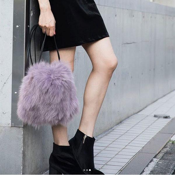 【ポイント10倍】サミールナスリ SMIR NASLI Fox Fur Purse レディース バッグ ファーバッグ ファー 巾着 鞄 ショルダー ショルダーバッグ コンパクト フォックスファー 0111-12600