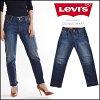 妇女的粗斜纹棉布牛仔裤直李维斯李维斯 501 CT 牛仔裤裤裤 Levis 店 (178040033)