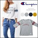 チャンピオン Champion ウィメンズ 3/4スリーブフットボールTシャツ レディース トップス Tシャツ ロゴ プリント 通販 CW-L415
