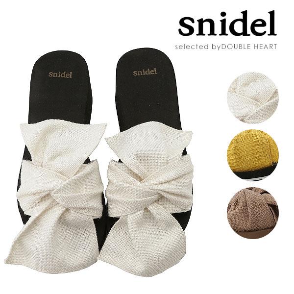 スナイデル snidel 4月下旬予約 リボンビーサン ビーチサンダル ビーサン サンダル 厚底 レディース シューズ 靴 リボン SWGS181623