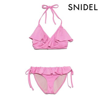 << point 10 times >> スナイデル SNIDEL 19 frill bikini Lady's swimsuit swimwear bikini raffle Cache-coeur frill color by color piping nostalgic sea beach summer event pool resort swgg192622 in the spring and summer