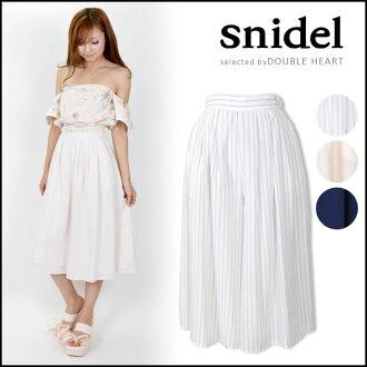斯内德 snidel 牧人裤子公平裤子宽裤 scurcio 缺乏立体条纹粉色海军 SWFP162232