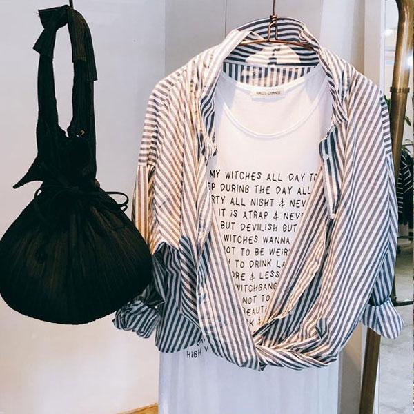 【クーポン対象】INVOLVE インボルブ hem twist skipper shirt 裾ねじりスキッパーシャツ レディース トップス ブラウス シャツ スキッパーシャツ チェック ギンガムチェック ストライプ wtn1208