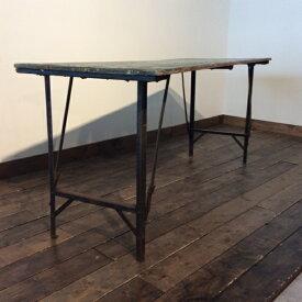【ダブルデイ/アンティーク/家具】 Working Folding Table(2606-005) ワーキングフォールディング テーブル(ダイニング/ガーデンテーブル/ビンテージ/作業台/折りたたみ/ナチュラル/ジャンク/カフェ)