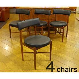 ジープラン フレスコ ダイニングチェア 4脚セット G-Plan Fresco 4Dining Chairs(2707-021)【ダブルデイ/DOUBLEDAY/アンティーク/ビンテージ/チーク/家具/雑貨】