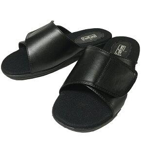 ギプス ギブス 骨折 捻挫 幅広 甲高 マジックテープ ゆったり 黒 ブラック バンテージ サンダル リハビリ シューズ 靴 レディース 婦人 調節可能 footform 1333