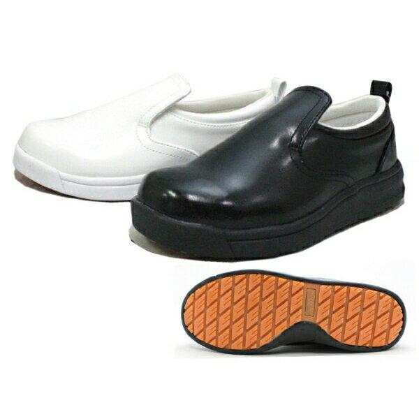 コックシューズ 厨房靴 厨房シューズ 黒 白 Good walker 7856 ブラック ホワイト