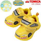 トミカイエローパトロールカースニーカーキッズ子供靴ベビー2サイズ対応インソールかっこいいかわいい車乗り物キャラクター名前なまえ10616