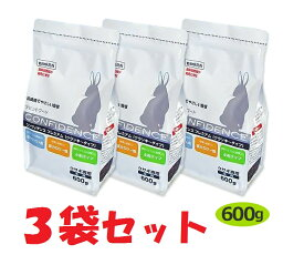 【あす楽】【3袋セット】【コンフィデンスプレミアム】【600g】日本全薬 うさぎ ウサギ 療法食