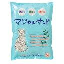 【マジカルサンド×3個】【5L×3個】猫【PEPPY】【猫砂】紙の猫砂。流せる固まる大好評尿の色がわかりやすい白い紙砂…
