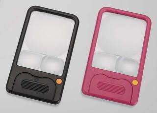 カートン光学 (Carton) LEDポケットルーペ(ピンク) R7506