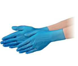 【ポイント10倍】 エブノ PVC手袋 NEXT PF L ブルー 2000枚(100枚X20箱) プラスチックグローブNEXT