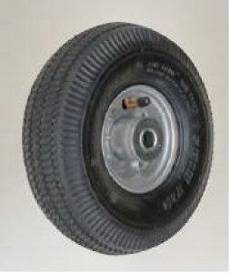 【直送品】 ハラックス タイヤセット エアータイヤ(アルミホイール) TR-3.50×4A (TR-3.50X4A) ベアリング付 【大型】