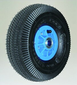 【直送品】 ハラックス タイヤセット エアータイヤ(プラホイール) TR-3.50×4T (TR-3.50X4T) ベアリング付 【大型】