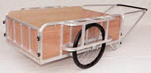 【直送品】 ハラックス 輪太郎 アルミ製大型リヤカー(強力型) 5号タイプ (合板パネル付) BS-5000TG エアータイヤ(26X2-1/2T) 【大型】