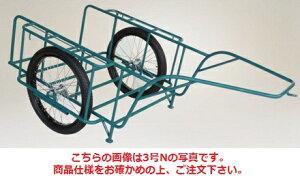 【直送品】 ハラックス スチールリヤカー スチール製リヤカー (合板パネル付) SSR-4NG ノーパンクタイヤ(26X2-1/2N) 【大型】