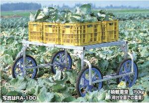 【直送品】 ハラックス 楽太郎 アルミ製 収穫台車 RA-100N ノーパンクタイヤ(20X1.75N) 【大型】