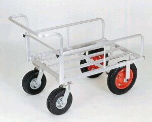 【直送品】 本宏製作所 (HONKO) アルミ製四輪カート  UO-01 【法人向、個人宅配送不可】《農林業機器》 【大型】