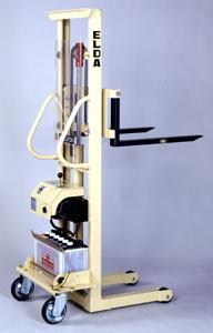 【代引不可】 カントー バッテリー電動油圧昇降式リフター エルダ35-15 (elda-35-15) (シングルマスト式) 【メーカー直送品】