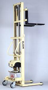 【代引不可】 カントー バッテリー電動油圧昇降式リフター エルダ35-20 (elda-35-20) (ダブルマスト式) 【メーカー直送品】