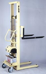 【代引不可】 カントー バッテリー電動油圧昇降式リフター エルダ50-18 (elda-50-18) (シングルマスト式) 【メーカー直送品】