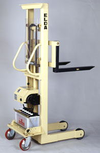 【代引不可】 カントー バッテリー電動油圧昇降式リフター エルダ80-15 (elda-80-15) (シングルマスト式) 【メーカー直送品】