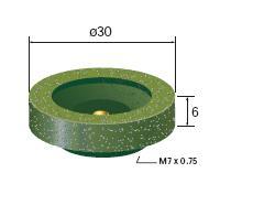 【ポイント5倍】 ナカニシ (NAKANISHI) カップゴム砥石 全粒度(6種X各2個) (64859) 合計12個