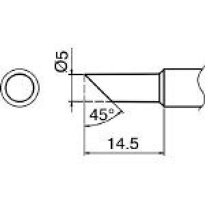 白光 こて先 5C型 T18-C5 (384-4081) 《ステーション型はんだこて》