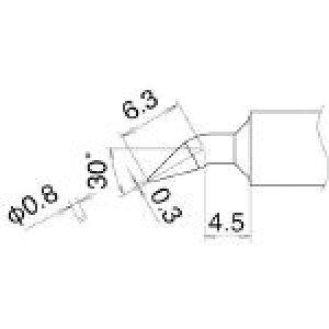 白光 こて先 0.8JD型 T22-JD08 (400-4221) 《ステーション型はんだこて》