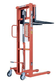 【直送品】 をくだ屋技研 (OPK) 手動式パワーリフター (エコノミータイプ) PL-H650-15S オレンジ色