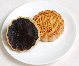 荳沙小月餅−黒あん小月餅−【横浜中華街・中華菜館 同發】