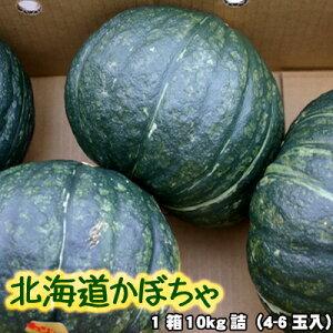 かぼちゃ 北海道 1箱10kg(4-6玉入) 送料無料 ※沖縄は送料別途加算