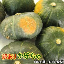 かぼちゃ 訳あり 北海道 10kg詰(4-10玉入) 送料無料 ※沖縄は送料別途加算
