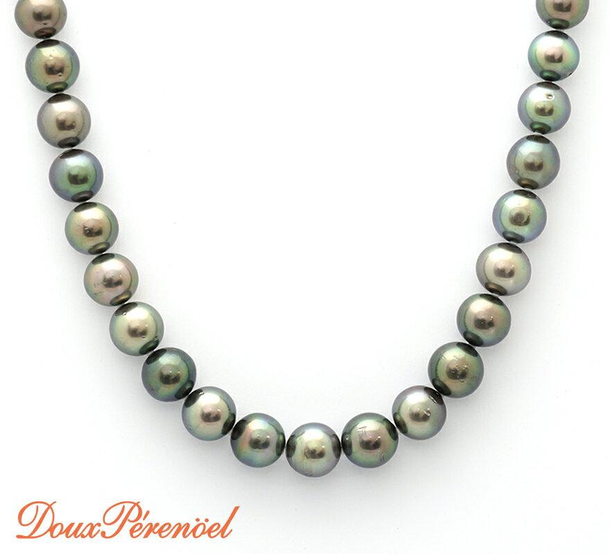 【中古】タヒチパール ネックレス K14WG 黒真珠 冠婚葬祭 【ホワイトゴールド】【14金】【フォーマル】【首飾り】【レディース】【女性】