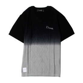 1df3e51f DOWBL/ダブル/Gradation Cable Short Sleeve Knit【全2色】