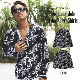 DOWBL/ダブル/Monotone Aloha Long Sleeve Shirts【全1色】