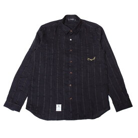 DOWBL/ ダブル/ Stripe Gold Icon Hemp Shirt 【全1色】