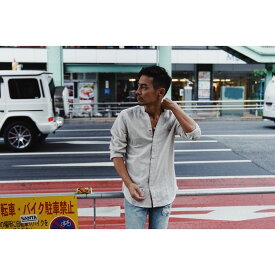 DOWBL/ ダブル/ Kiss Stand Color Hemp Shirt 【全1色】