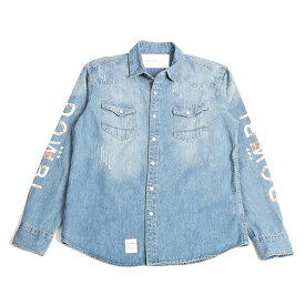 DOWBL/ ダブル/ Arabesque Logo Denim Shirt 【全1色】