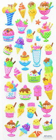デコレーション シール ギフト 子供用 かわいい お菓子 スイーツ アイスクリーム