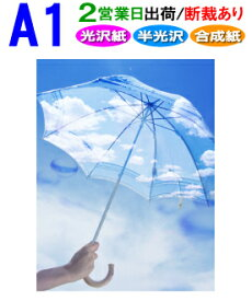【A1】ポスター印刷〈フォト光沢紙・半光沢紙・合成紙〉2営業日目出荷【化粧断裁する】