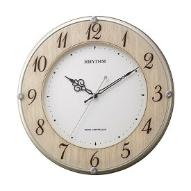 8MY506SR23 電波掛時計 リズム時計 ライブリーナチュレ 壁掛け時計 電波時計 電波掛け時計 電波掛時計 壁掛時計 かけ時計 壁掛け電波時計 電波壁掛け