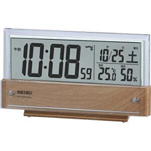 【北海道・沖縄・離島配送不可】SQ782B デジタル時計 SEIKO セイコー シースルー液晶 置き時計 電波時計 電波置き時計 電波置時計 おき時計 卓上時計 卓上電波時計 テーブルクロック デスクク