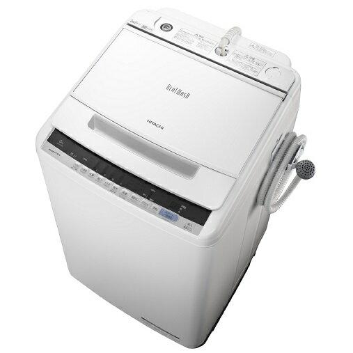 【時間指定不可】【離島配送不可】BW-V80C-W 全自動洗濯機 HITACHI 日立 ビートウォッシュ 洗濯・脱水容量8kg BWV80CW ホワイト