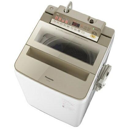 【時間指定不可】【離島配送不可】NA-FA80H6-N 全自動洗濯機 Panasonic パナソニック 洗濯・脱水容量8kg NAFA80H6N シャンパン