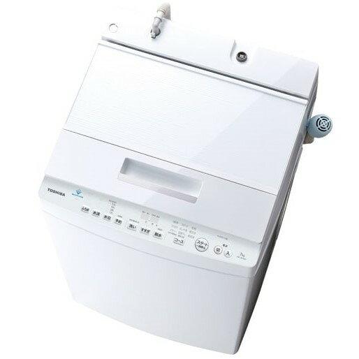 【時間指定不可】【離島配送不可】AW-8D7-W 全自動洗濯機 TOSHIBA 東芝 ZABOON 洗濯・脱水容量8.0kg AW8D7W グランホワイト【KK9N0D18P】