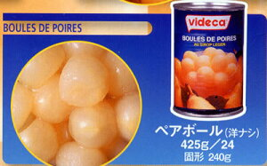 N&F日仏商事株式会社スペイン産フルーツの缶詰【ビデカ】洋なしペアボール【RCP】