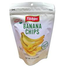 Filchipsロングカット薄切りバナナチップス100gグルテンフリー